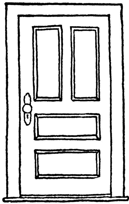 Door Drawing Drawings Pinterest