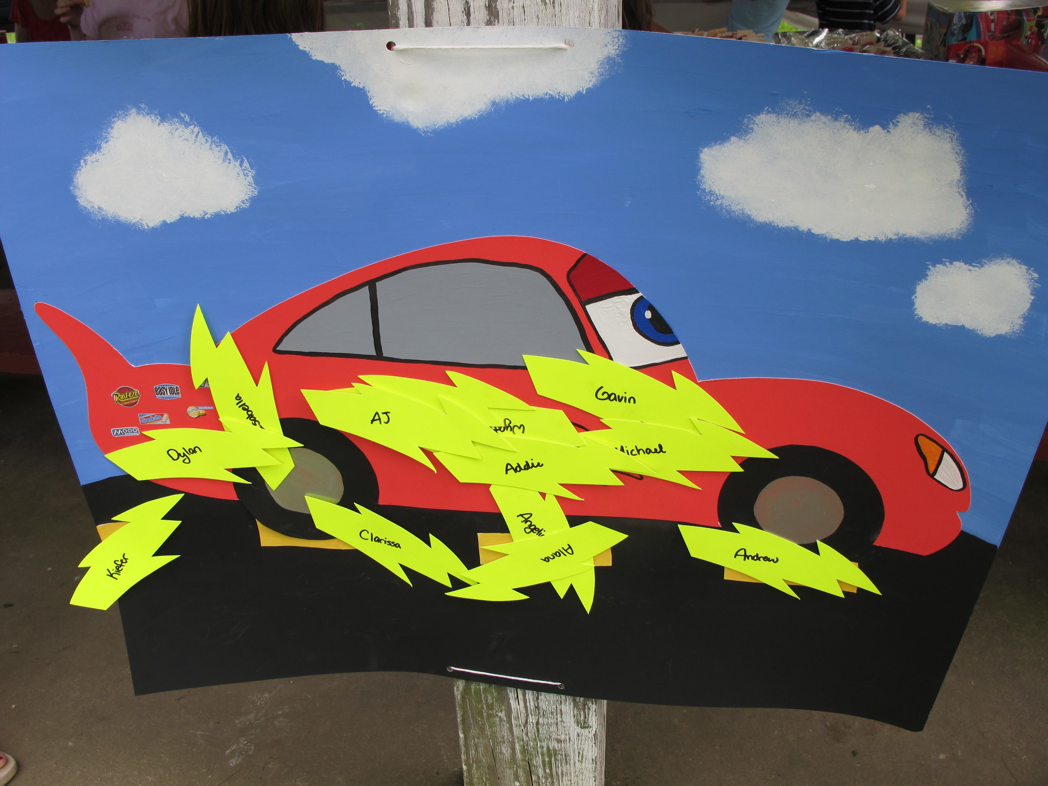 fc26abc2368514 Pin the Lightning Bolt on McQueen Game | Party Time! in 2019 ...