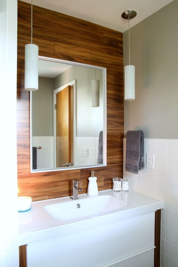 SKOGSVÄG Mirror A Master Bathroom Makeover In A Midcentury - Mid century modern bathroom lighting for bathroom decor ideas