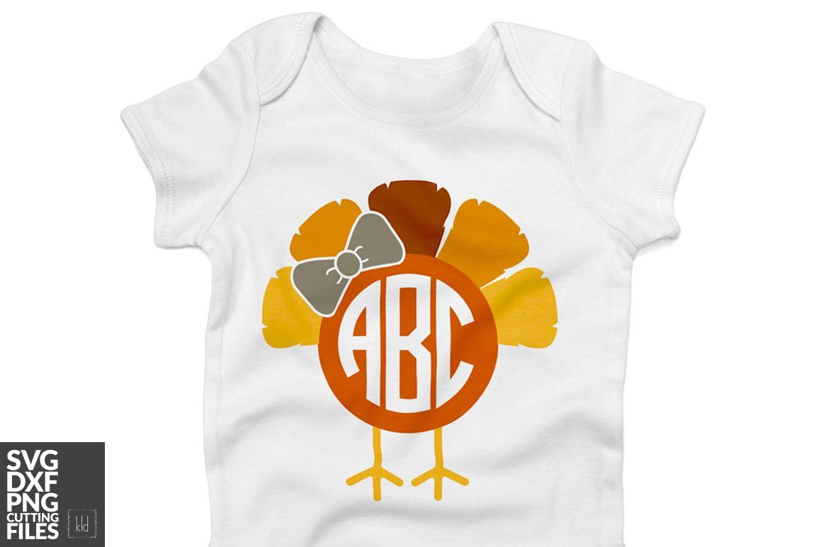 602da080 Turkey Monogram SVG Cut Files | Thanksgiving SVG Cut Files ...
