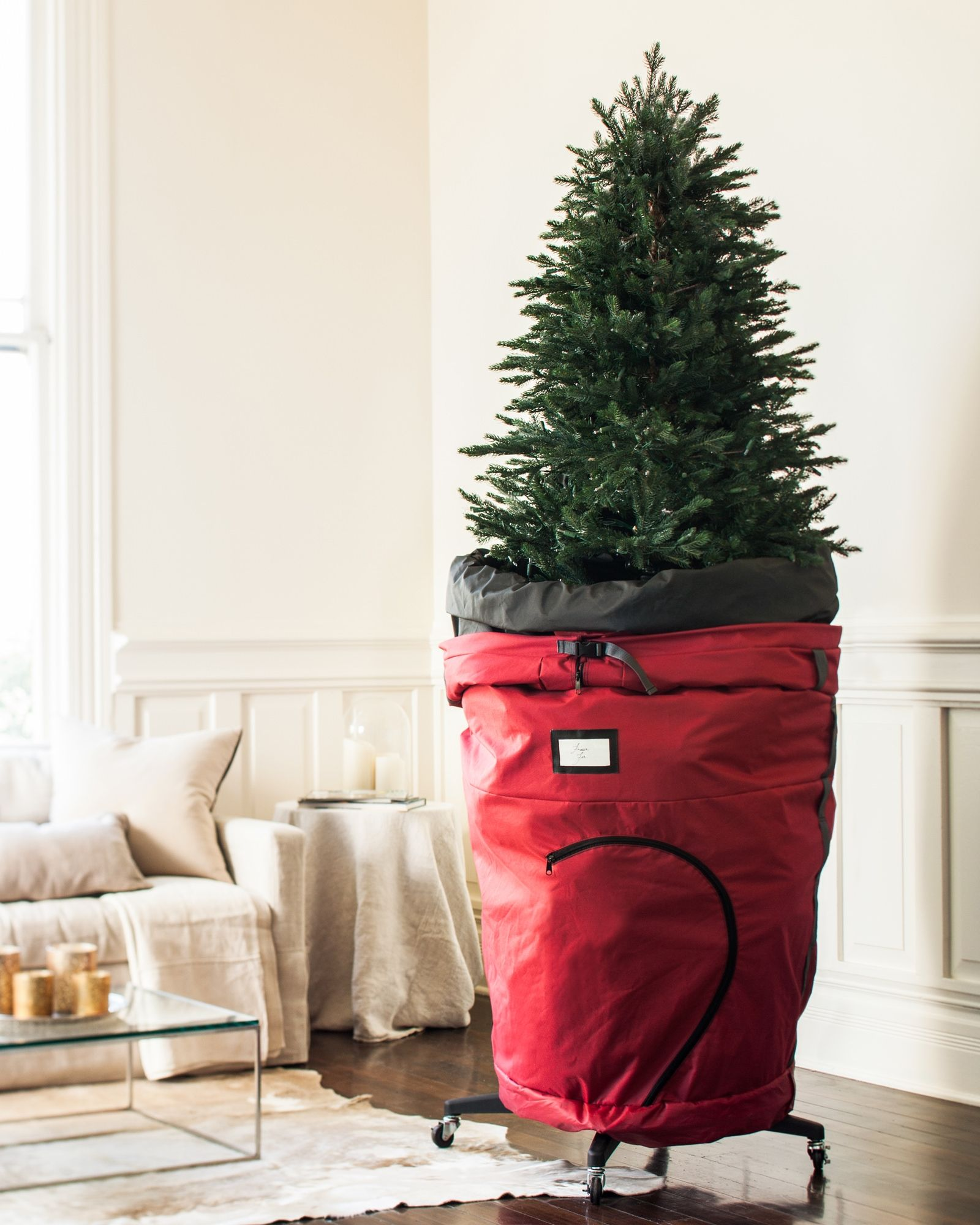 Rolling Christmas Tree Storage Bag Christmas Tree Storage Bag Christmas Storage Diy Christmas Tree Storage