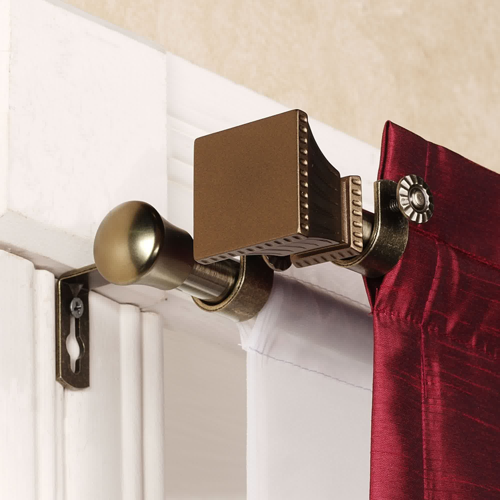 Sketch Of Magnetic Curtain Rods Easy Way To Install Window