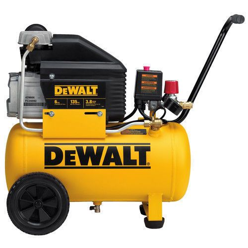 Details About Dewalt 6 Gallon Wheeled Horizontal Air Compressor