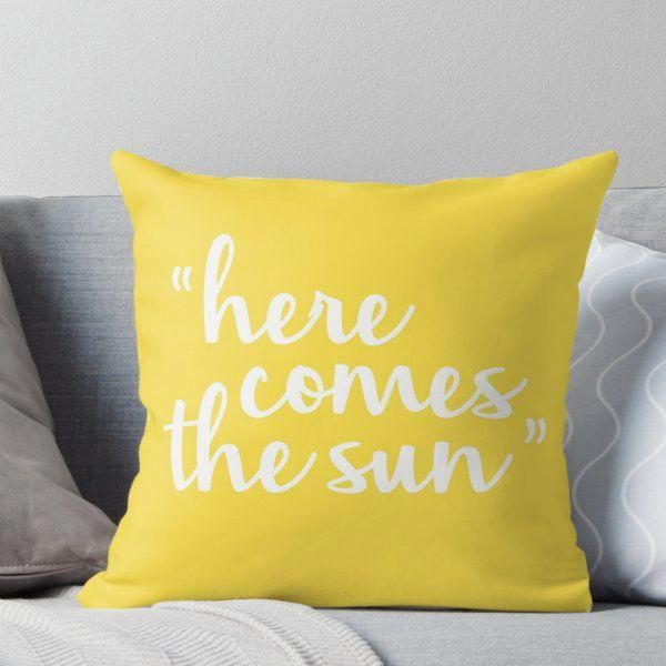 'Here Comes The Sun' Throw Pillow by NWproductions