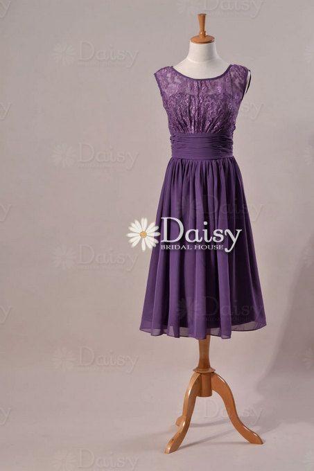 Long Purple Bridesmaid Dresses Vintage