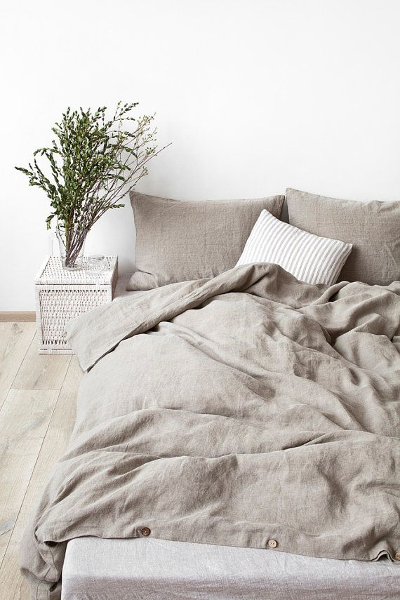 Natural Stone Washed Linen Duvet Cover By Linentalesinbed