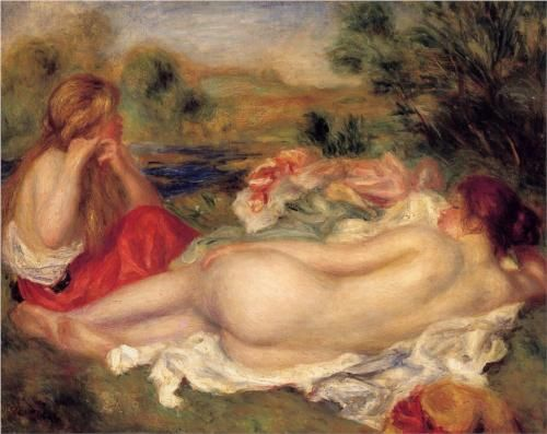 Two Bathers - Pierre-Auguste Renoir