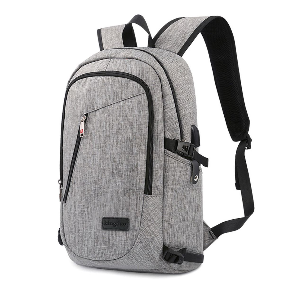 7fdc0d42ff6 ModernistLook EX Series Water Resistant Backpack with USB Charging Port -  Modernist Look