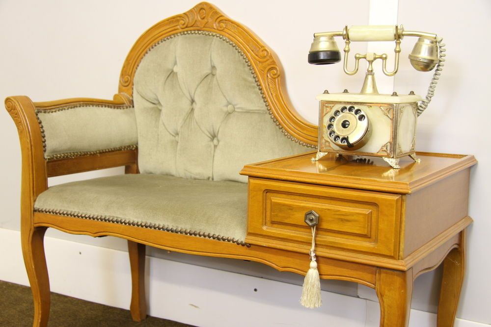 French louis style telephone table, shabby chic chair ...