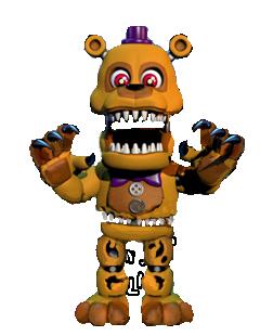 Adventure Nightmare Fredbear Full Body Fnaf Fnaf Characters Nightmare