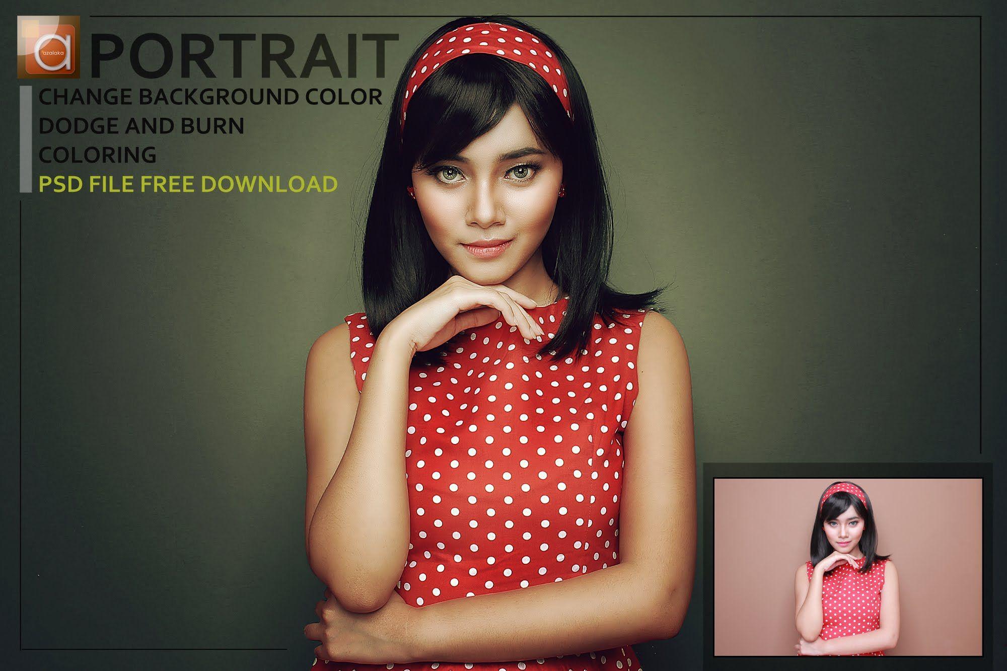 Photoshop tutorial portrait change background color coloring photoshop tutorial portrait change background color coloring baditri Image collections