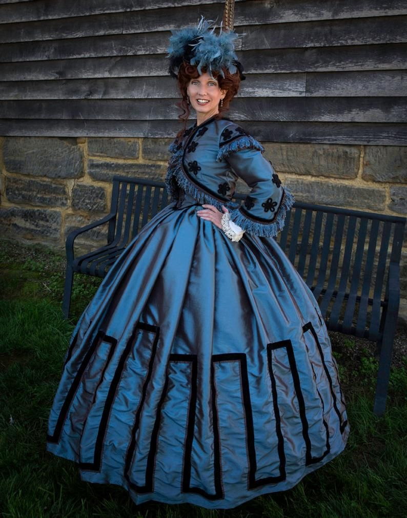 For Orders Only Custom Made 1800s Victorian Dress 1860s Etsy In 2021 Victorian Dress Civil War Dress War Dress [ 1011 x 794 Pixel ]