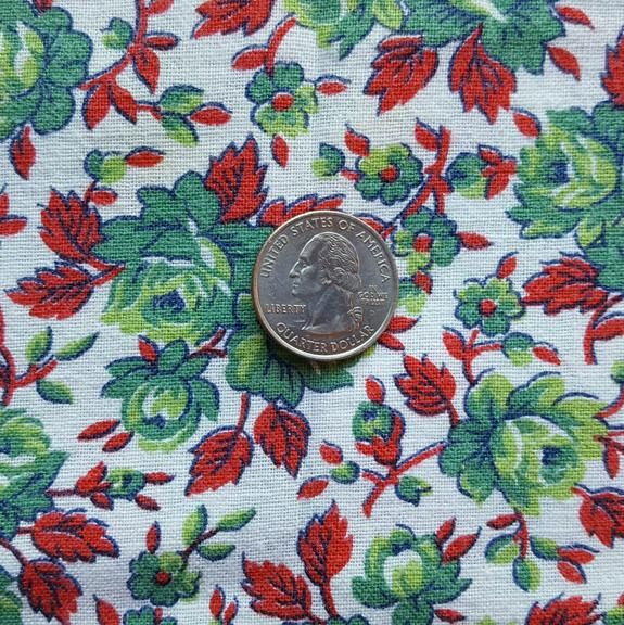 1930s   1940s Tablecloth From Flour Sack / Bag Fabric