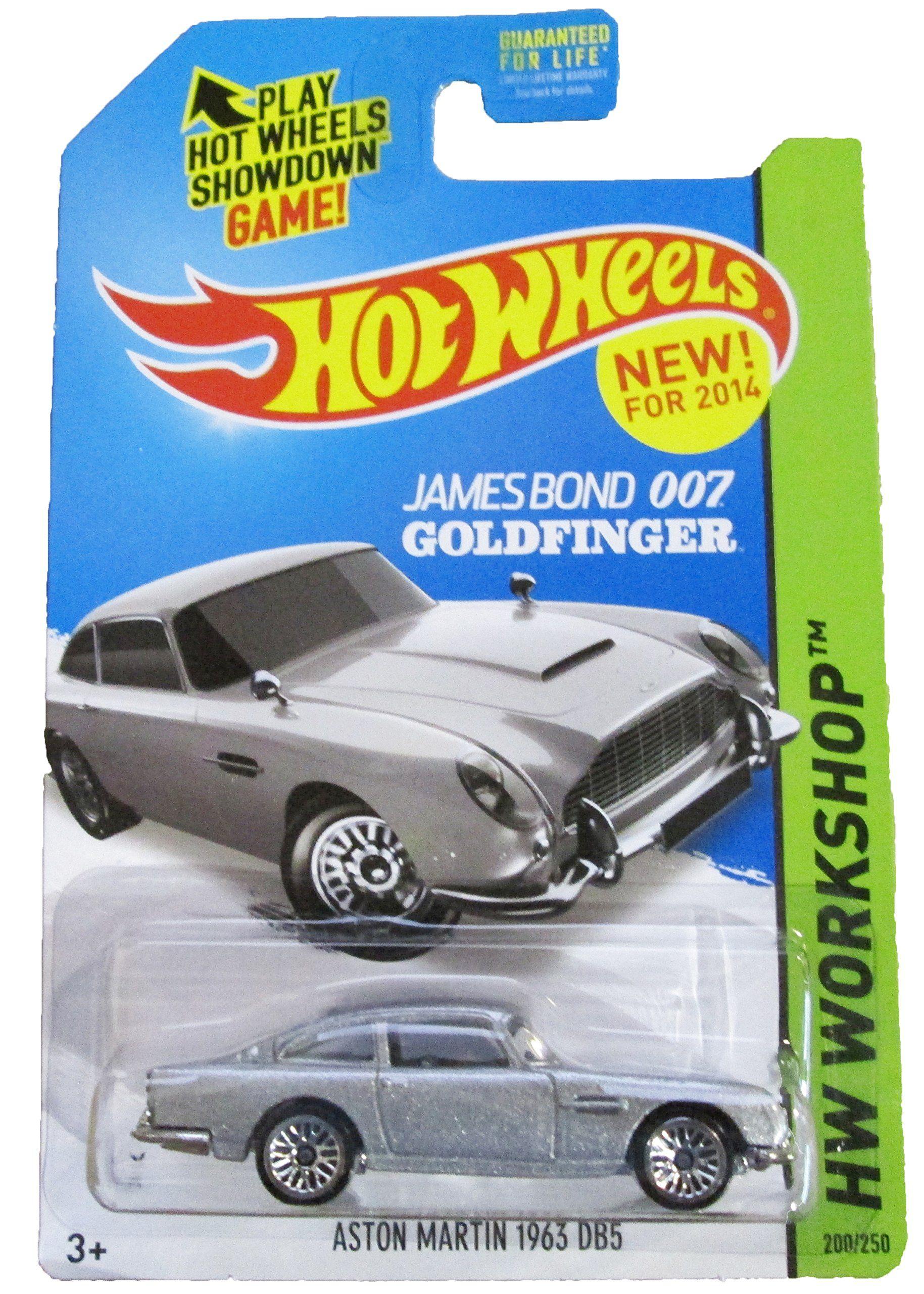 Amazon Com Hot Wheels 2014 Hw Workshop Hw All Stars 200 250 James Bond 007 Goldfinger Aston Martin 1963 Db5 T Hot Wheels Aston Martin Hot Wheels Cars