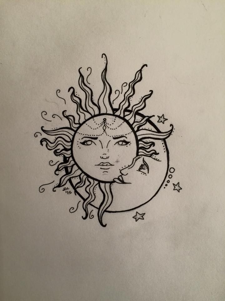 It is a graphic of Lively Tiny Sun Drawing