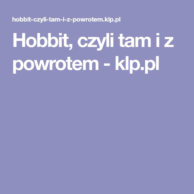 Test z lektury hobbit czyli tam iz powrotem