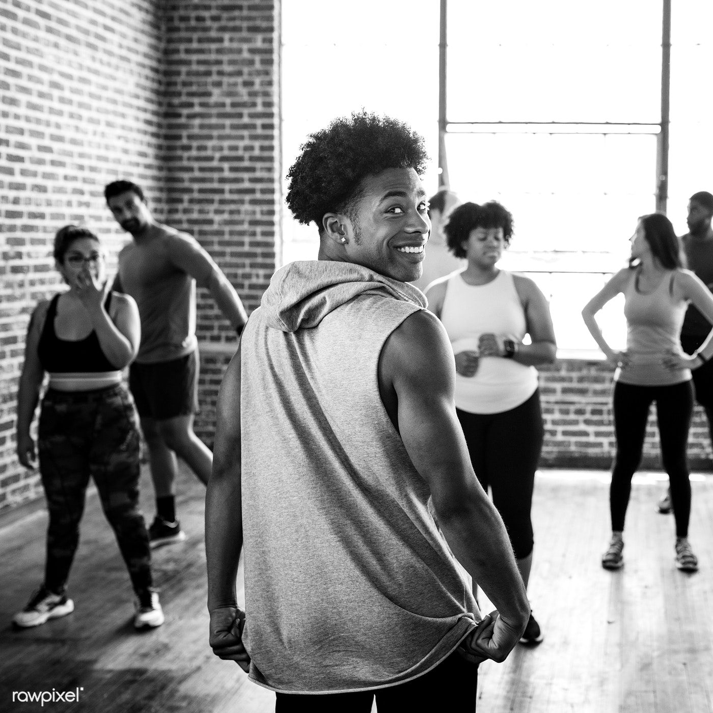 Download Premium Image Of Trainer With His Group Fitness Class 2045892 Fitness Class Group Fitness Classes Group Fitness