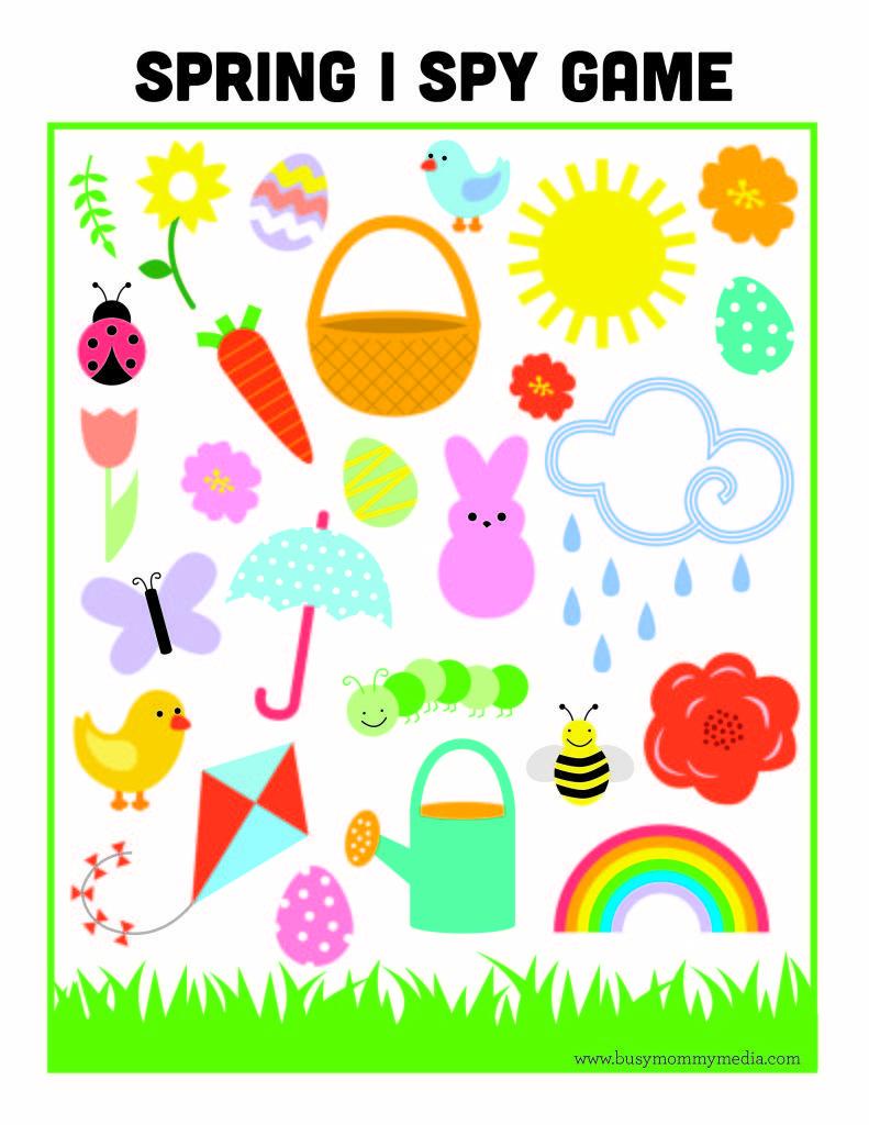 Free Printable - Spring I Spy Game | Printables | Pinterest | Spy ...