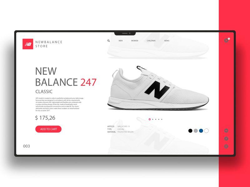 Newbalance | Ecommerce web design