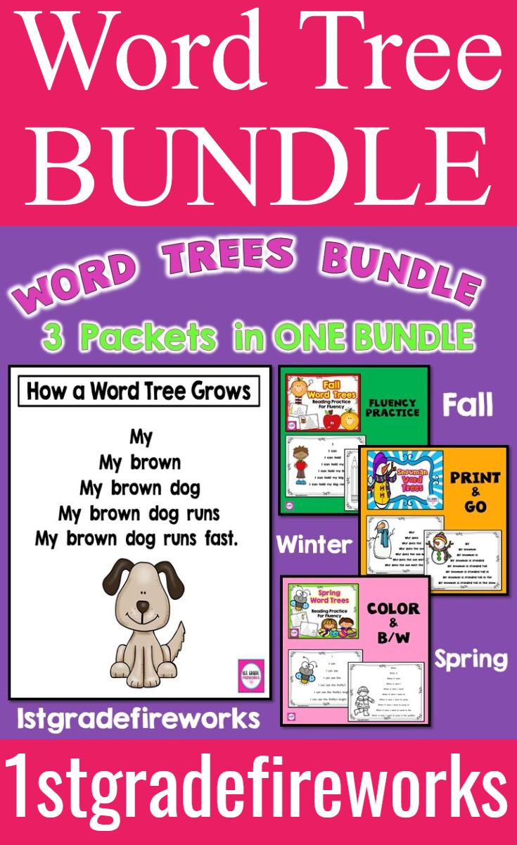 Word Tree Bundle Reading Fluency Practice Teaching Reading Comprehension Words [ 1200 x 735 Pixel ]