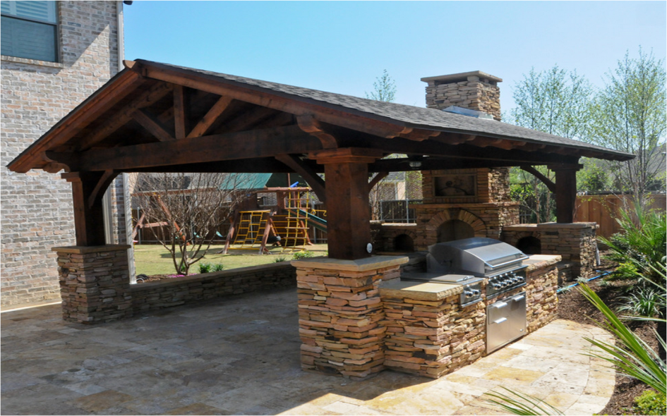 Incredible Outdoor Kitchen Appliances Dallas Tx With Rustic Wooden Outdoor Kitchen Hut And S Covered Outdoor Kitchens Rustic Outdoor Kitchens Backyard Pavilion