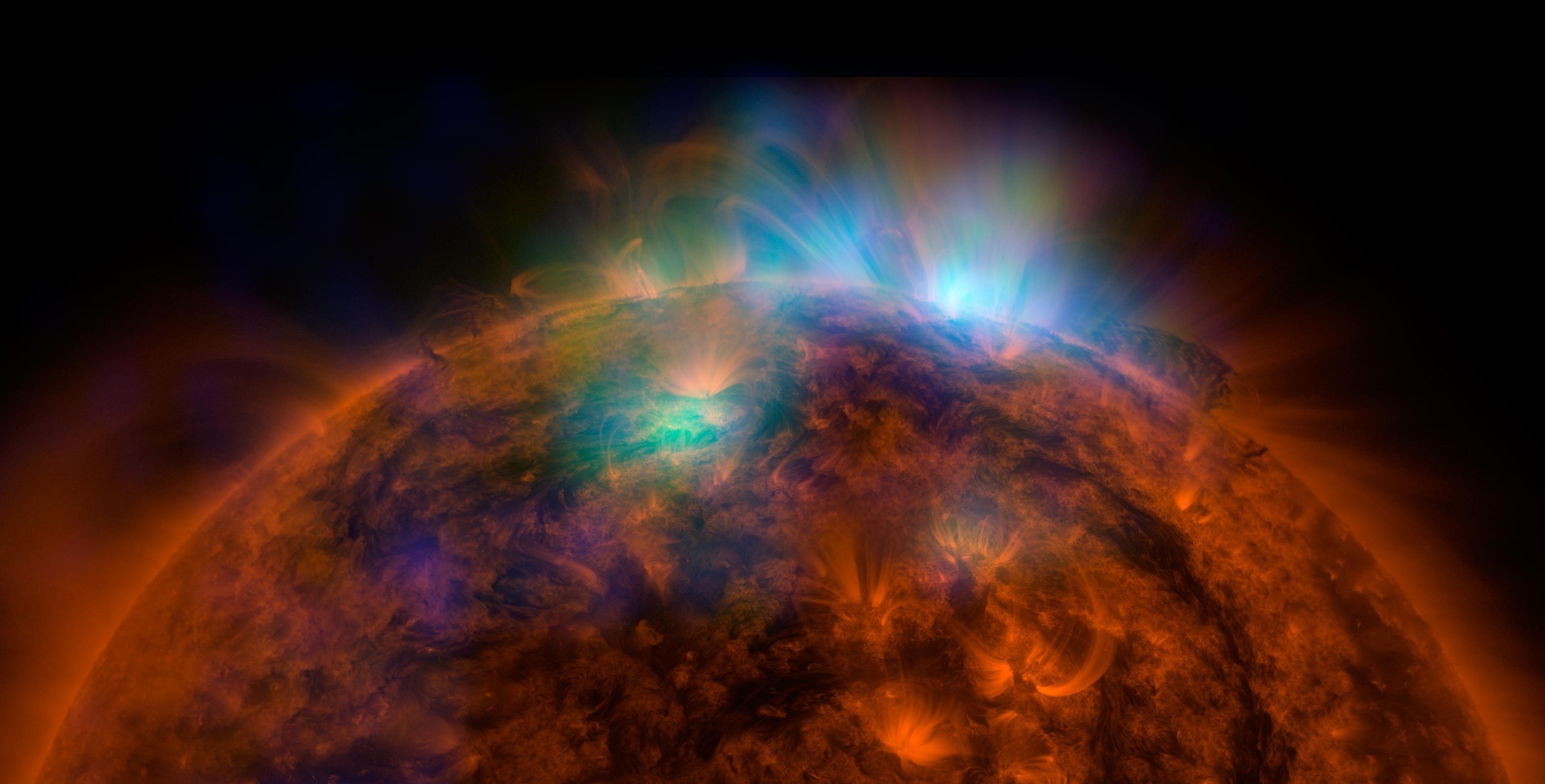 El sol está que arde en rayos x de alta energía. Crédito de la imagen: NASA/JPL-Caltech/GSFC