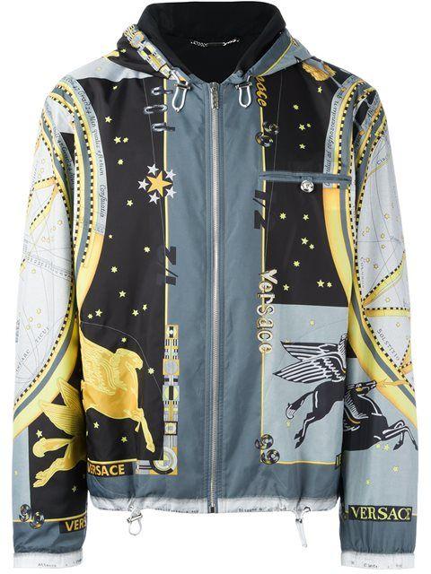 01855435d VERSACE 'Astrological' Print Windbreaker Jacket. #versace #cloth ...