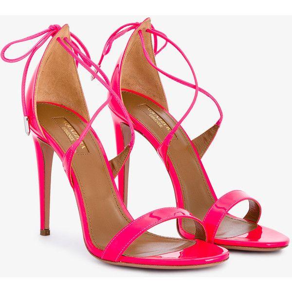 strappy open toe sandals - Pink & Purple Aquazzura Tswzn
