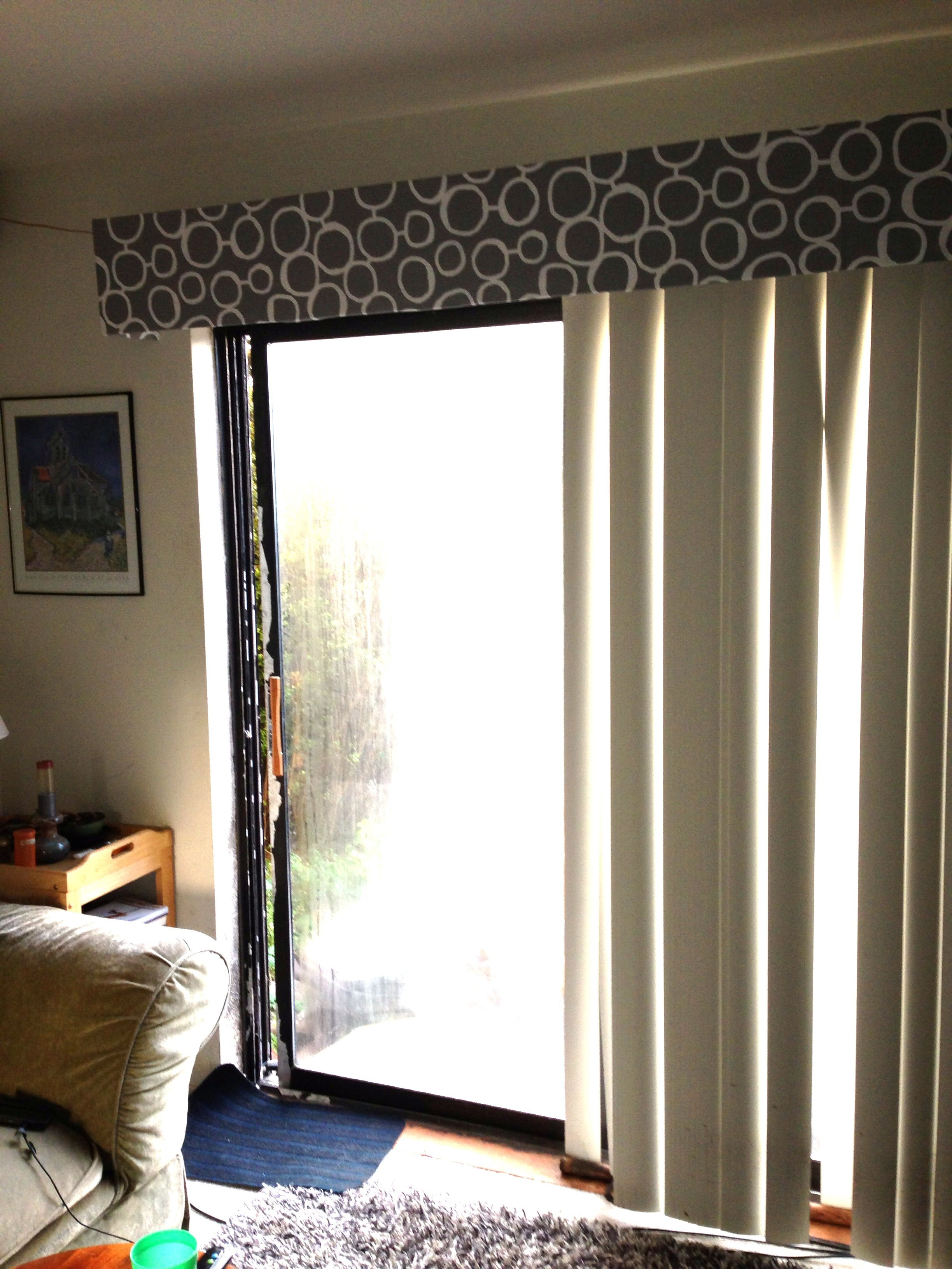 Diy Vertical Blinds Vertical Blind Cornice Projects I Finally Completed