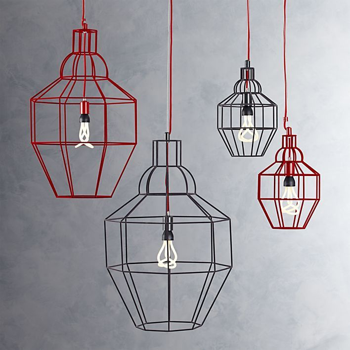Riviera Large Red Pendant Lamp Crate And Barrel Redo For The
