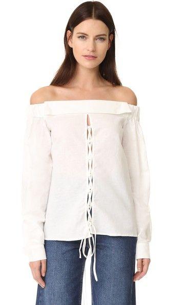 Compra Top hombros descubiertos de mujer color blanco de Isla al mejor  precio. Compara precios de tops de tiendas online como Shopbop - Wossel  España dee76131752
