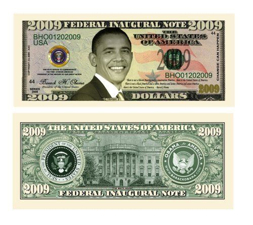 Barack Obama Collectible United States Novelty Dollar Bill with Free Case