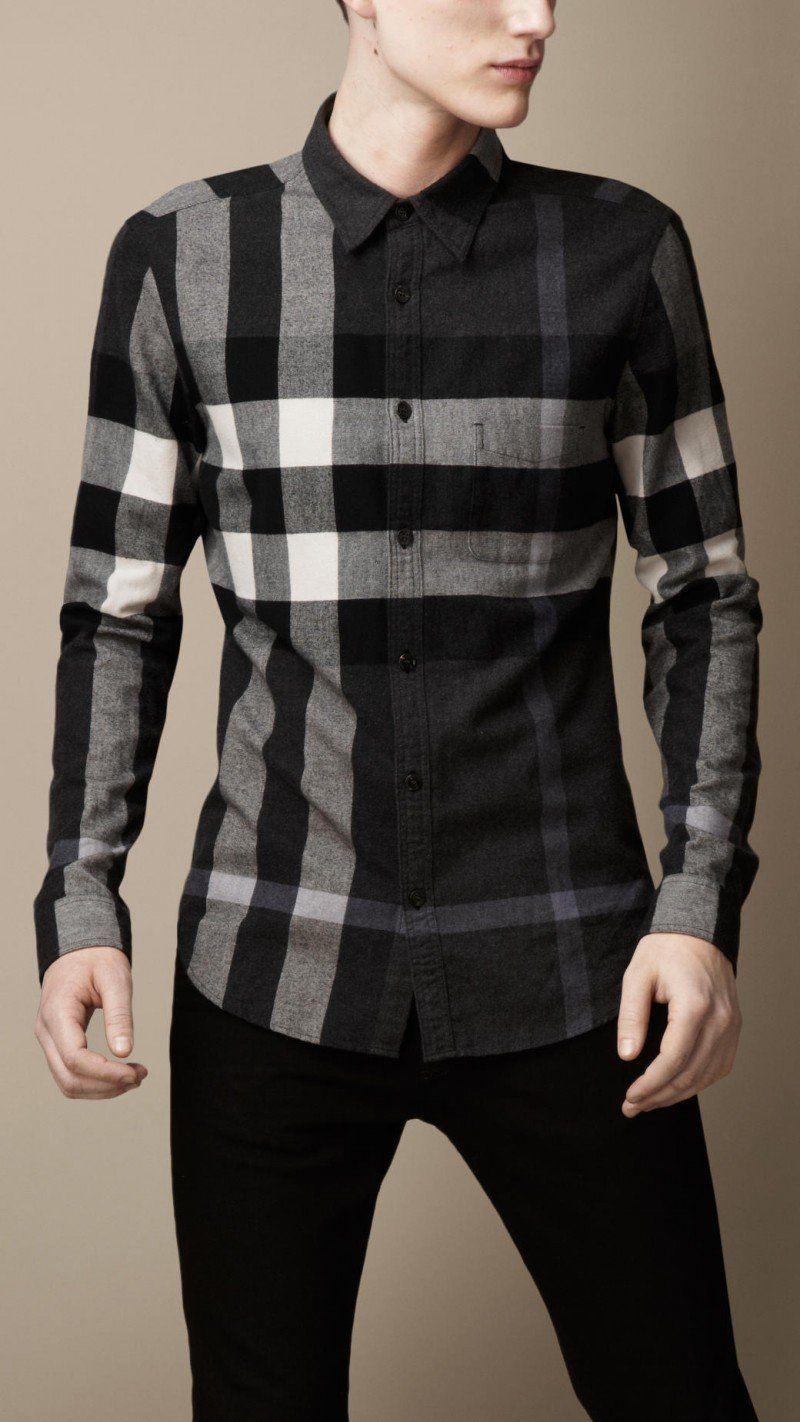 burberry plaid shirt for men