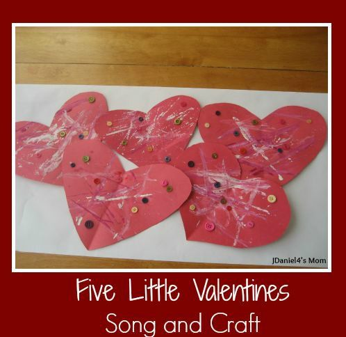 five little valentines song and craft activity for kids - Preschool Valentine Songs