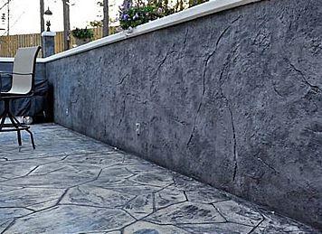 Little Rock Arkansas Stamped Concrete Surface Wall Contractor Pool Landscape Design Concrete Decor Concrete Walkway