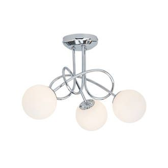 Mirella 3 Light LED Pendant Light Chrome 9W | Pendant Ceiling Lights |  Screwfix.com