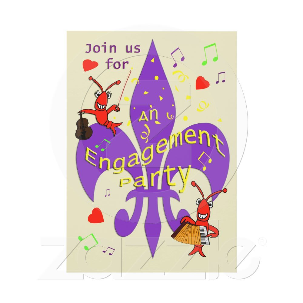 Cajun Themed Engagement Party Invitation from Zazzle.com   Party ...