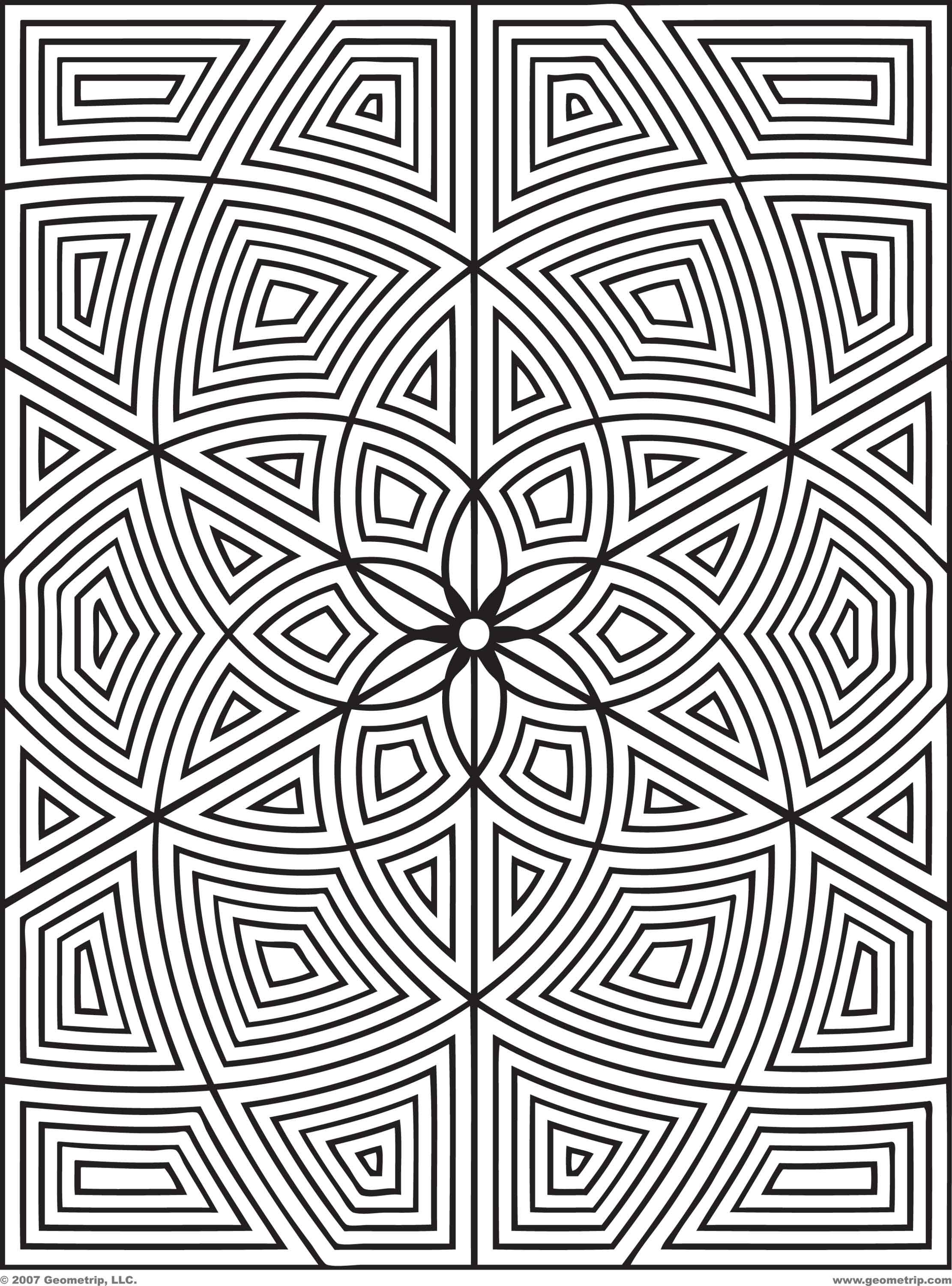 free geometric design coloring pages images crazy gallery - Geometric Coloring Pages