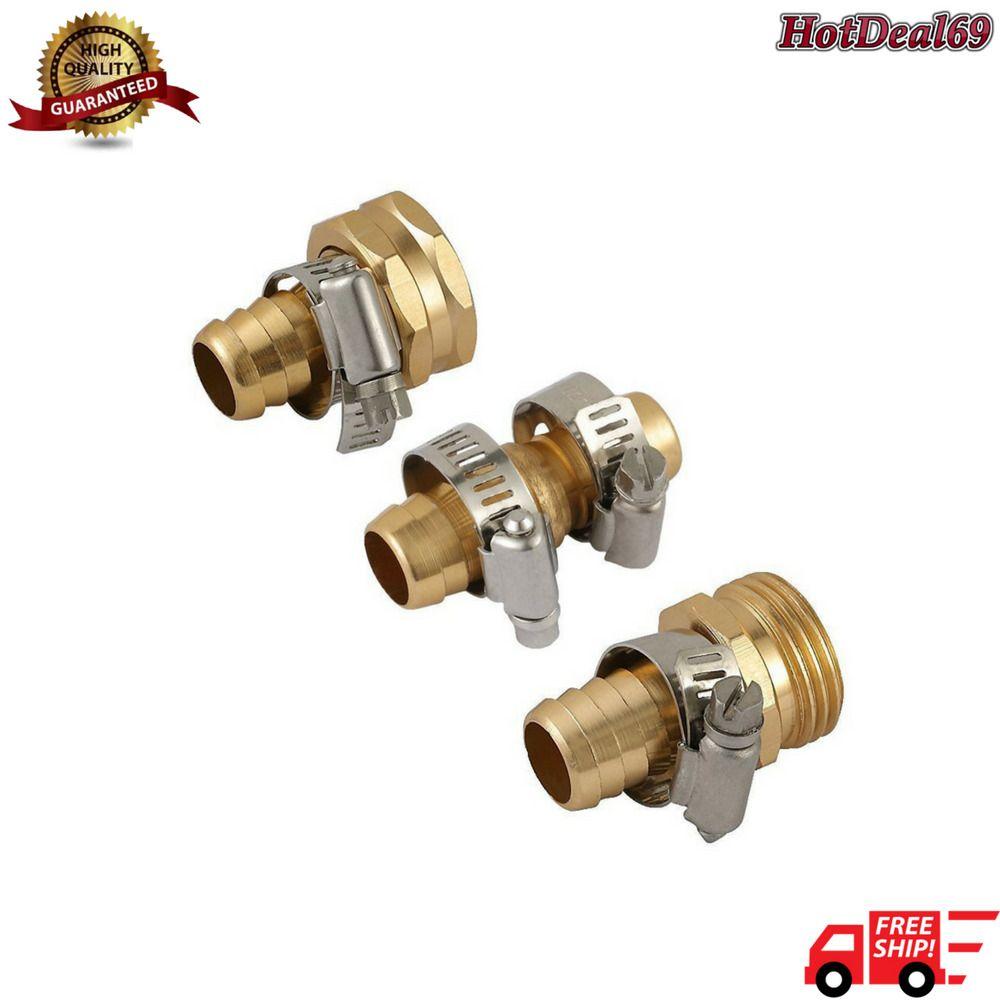 Garden Hose Repair Mender A8002 Metal 5 8 3pcs Kit Male Female