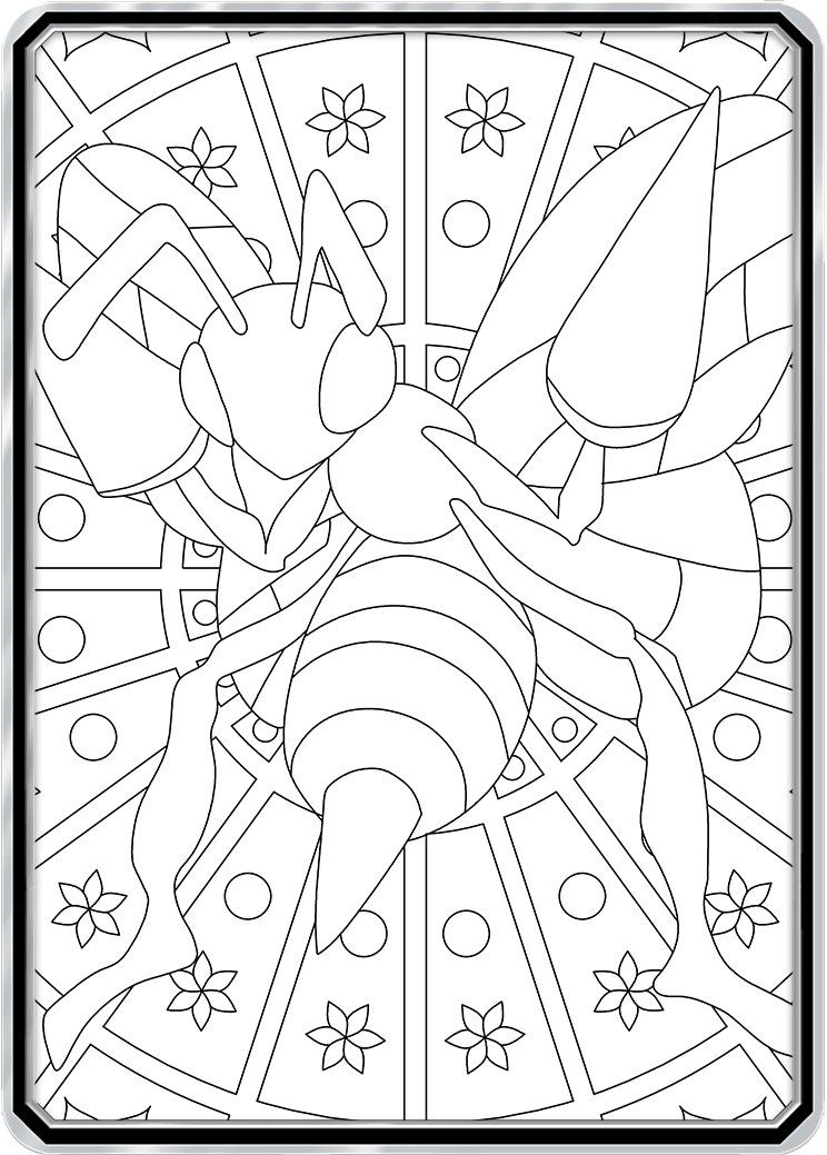 Color Me Beedrill Custom Pokemon Coloring Card Pokemon Coloring Pokemon Coloring Pages Color Card