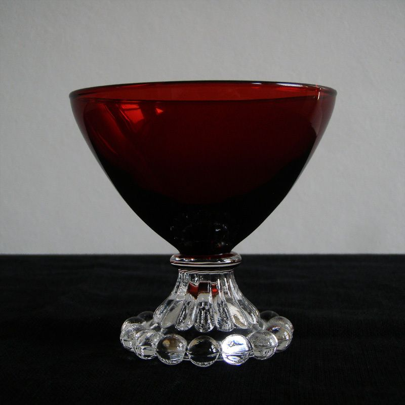 Luminarc France Red Glass Dessert Bowl Dessert Bowls Glass