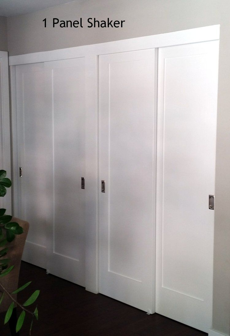 Panel Louver And Flush Doors Door Type Bypass Sliding No Of Panels 4 Trim Top Flush Mounted Board Side Closet Doors Bedroom Closet Doors Flush Doors