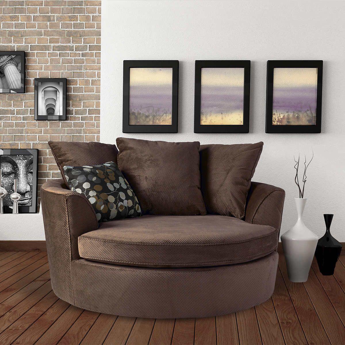Best Asha Cuddler Chair In Brown Costco Ca Dining Chair 400 x 300