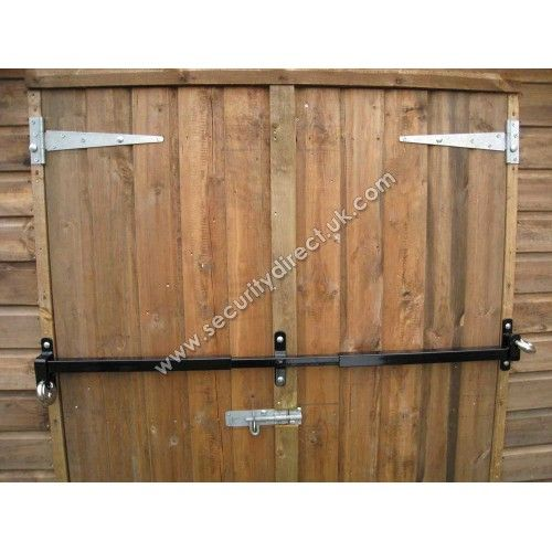 Shed Double Door Security Shed Security Bar Security