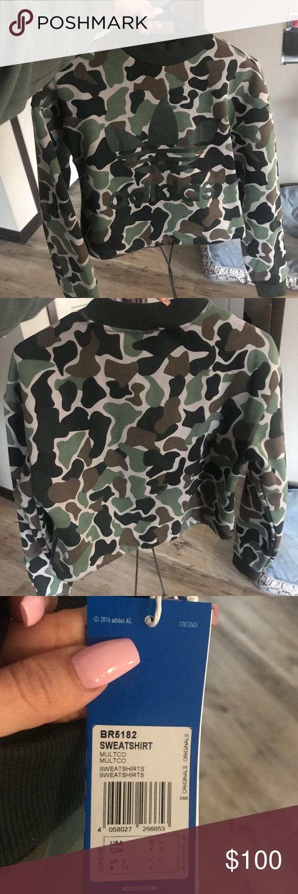Predownload: Must Go Today Adidas Camo Crop Drawstring Hoodie Adidas Camo Cropped Hoodie Hoodies [ 1740 x 580 Pixel ]