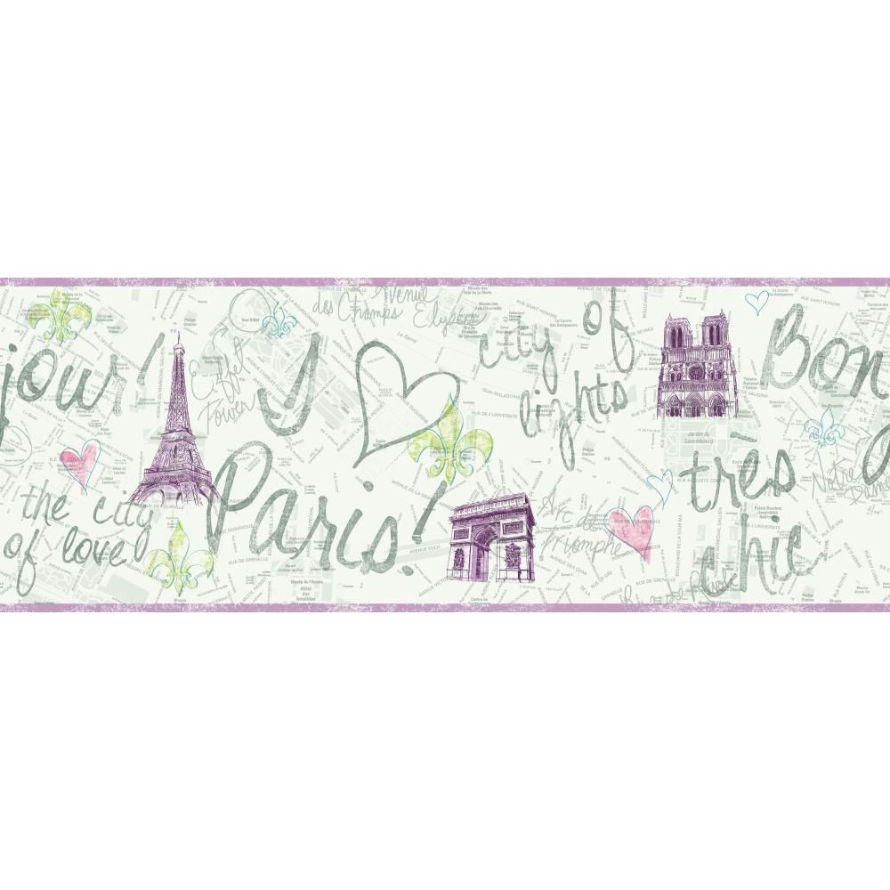 York Wallcoverings Inspired By Color Paris Wallpaper