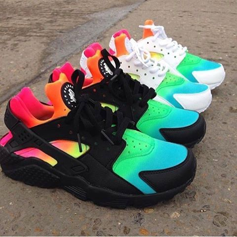 pretty nice 677a4 8bb5c Nike Huarache CUSTOM Rainbow Limitald by FantazyShop on Etsy