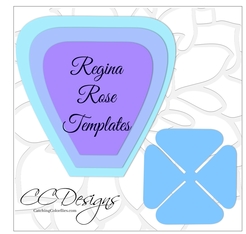 Regina Paper Rose Templates - Hard Copy Template | Template and Copy ...