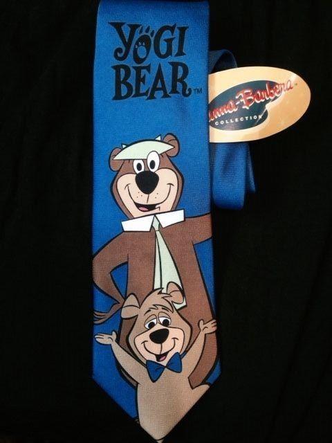 Yogi Bear & Boo Boo Mens Necktie Hanna-Barbera Cartoon Show Gift Tie New #WBHannaBarbera #NeckTie