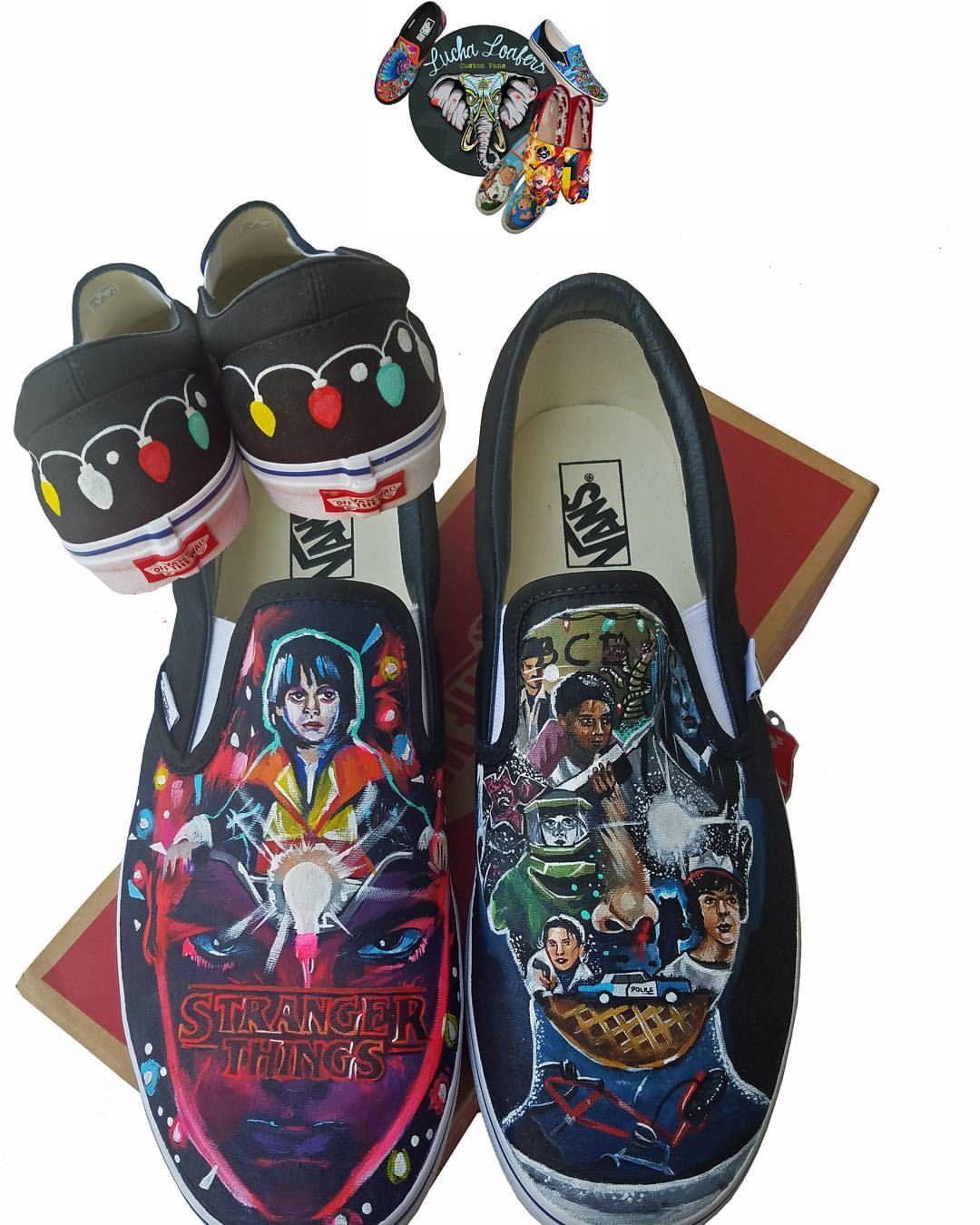 7ec19a00c454d7 Custom Stranger Things VANS by  lucha loafers